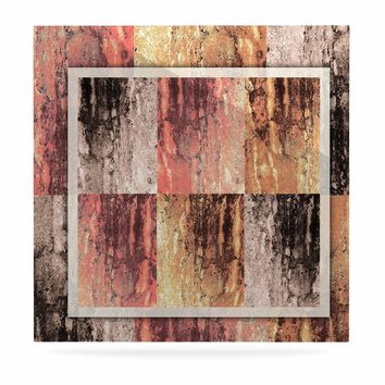 "Nina May ""Tavertina Earth"" Brown Coral Digital Luxe Square Panel"