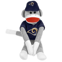 St. Louis Rams NFL Plush Uniform Sock Monkey