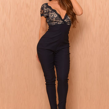 Mattie Jumpsuit - Navy