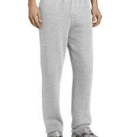 Russell Athletic Men's Dri-Power Closed-Bottom Fleece Pocket Pant,Oxford,Large