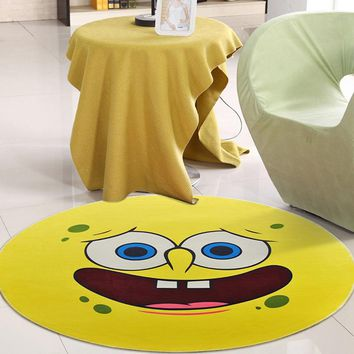 New Expression Pattern Round Carpet Children's Room Area Rugs For Livingroom Bedroom Coffee Table Anti-slip Carpet Chair Mats