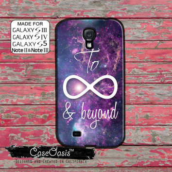To Infinity Symbol And Beyond Space Galaxy Tumblr Cute Custom Galaxy S5 and S4 and S3 Case and Galaxy Note 2 and Note 3 Case