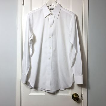 Brooks Brothers men's Gatsby white button down long sleeve shirt sz 15-33