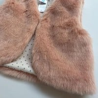 Baby Girls Clothes Cotton Fake Fur Vests Autumn Winter Outerwear Fashion Girls Boys Clothing