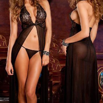 Womens Beautiful Sexy Lace Nightgown Lingerie