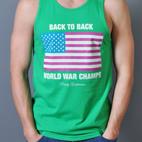 Back to Back World War Champs Tank Top - Let's Get Weird Edition   Rowdy Gentleman