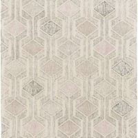 Melody Geometric Area Rug Gray