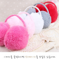 1pc Lady Girl Cute Nice Soft Plush Fluffy Ear Muffs Warmers Cover Ear Cap Earlap Earmuff  # lcmqstore = 1946919428