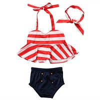 Nautical Retro swimwear girls swimsuit bikini girl bathing suit