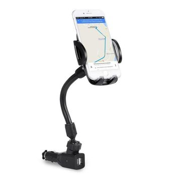 LMFXT3 3-In-1 Cigarette Lighter Car Mount, Bestfy Car Mount Charger Phone Holder Cradle with Dual USB 2.1A Charger for iPhone X 8 8 Plus 7 7 Plus Samsung Galaxy Note S7 Edge and More Android Smartphones