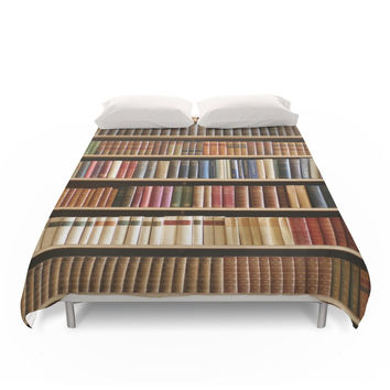 Society6 Bookshelf Of Wisdom Duvet Cover