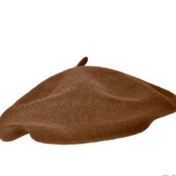 Brown Beret, Brown Wool Beret, Brown French Beret, Brown Hat, Brown Slouchy Hat, Brown Tam, Brown Knit Hat,  Cloche Hat, Chocolate Hat,