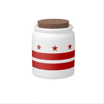 Washington DC Flag Candy Jar