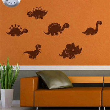 rvz607 Wall Decal Vinyl Sticker Decor Bedroom Nursery Kids Baby Dino Dinosaurus