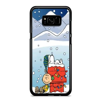 Charlie And Snoopy Brown Christmas Samsung Galaxy S8 Plus Case