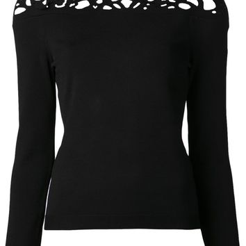 Valentino butterfly cut out sweater
