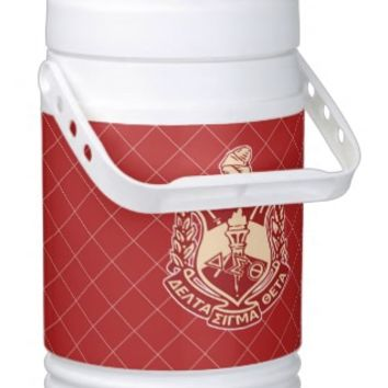 Sorority Personal Beverage Igloo Cooler, Delta Sigma Theta - Price includes UPS Standard Shipping Price