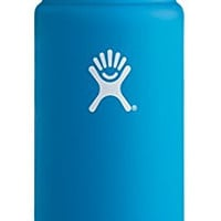 Hydro Flask 16 oz Vacuum Insulated Stainless Steel Water Bottle, Wide Mouth w/Hydro Flip Cap, Pacific