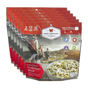 Wise Outdoor Noodles with Beef Camping Food - Pack of 6