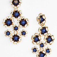 Tory Burch 'Katie' Floral Chandelier Earrings