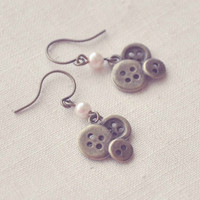 the button collector earrings by bellehibou on Etsy