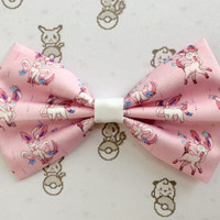 Pokemon Sylveon Inspired Hair Bow or Bow Tie