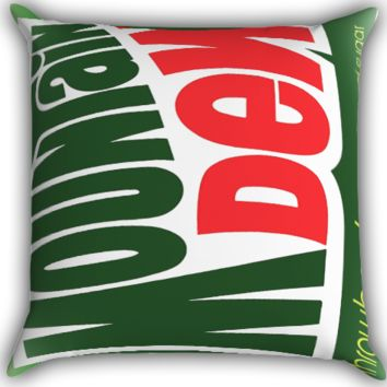 Funny Mountain Dew A0264 Zippered Pillows  Covers 16x16, 18x18, 20x20 Inches