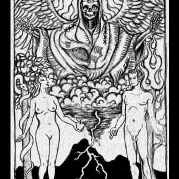 The Lovers Tarot Card stretched canvas