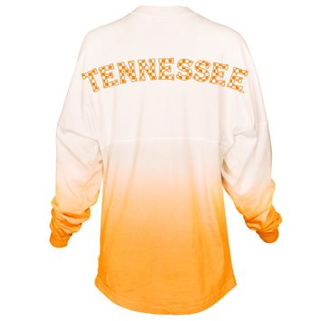 Official NCAA University of Tennessee Volunteers, Knoxville Vols UT UTK Women's Long Sleeve Tie Dye Spirit Wear Jersey T-Shirt