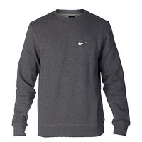 NIKE CLUB SWOOSH CREW SWEATSHIRT - Dark Grey - NIKE CLOTHING