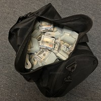$500,000 New Style Blank Filler Fat Bands Duffle Bag