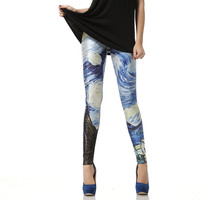 Van Gogh The Starry Night Leggings Pant from Galaxy Leggings