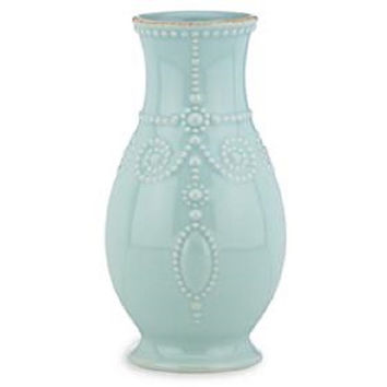 """French Perle Ice Blue 8"""" Fluted Vase by Lenox"""