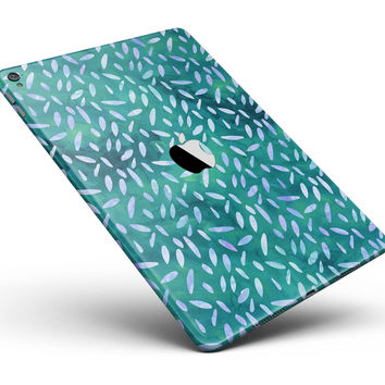 "Green and Blue Watercolor Leaves Pattern Full Body Skin for the iPad Pro (12.9"" or 9.7"" available)"