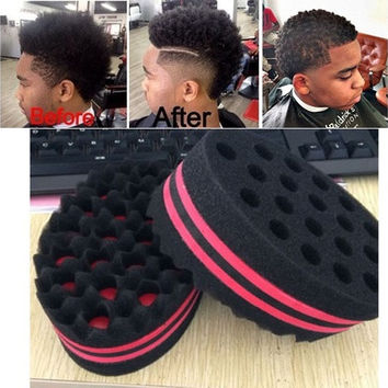 Magic Barber Hair Brush Wave Sponge for Dreads Afro Locs Twist Curls Coil Tools [8833554508]