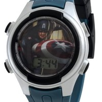 Marvel Captain America Kids' CPT005T Power Shield Digital Gift Tin Set Watch
