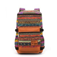 Herebuy - Vintage Floral-Print Travel Backpack Fashion Women Back Packs (Orange):Amazon:Clothing