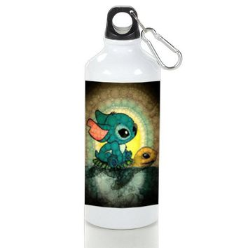 Gift Sport Bottles | Lilo And Stitch Cartoon Stained Glasses Aluminum Sport Bottles