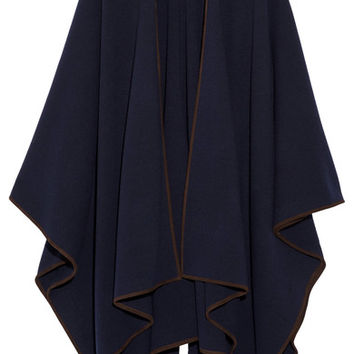 The Row - Dusana suede-trimmed merino wool and cashmere-blend cape