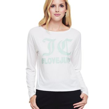 Juicy Pearl Embroidered Long Sleeve Tee by Juicy Couture