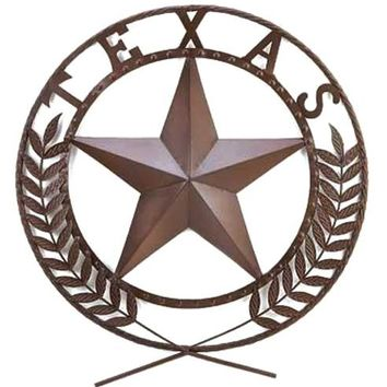 Cast Iron Texas Star Wall Plaque