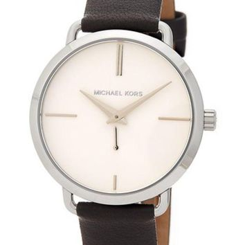DCCKHB3 MICHAEL Michael Kors | Women's Portia Leather Strap Watch