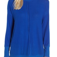 Gibson Cozy Fleece Tunic (Regular & Petite) | Nordstrom