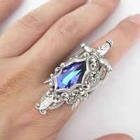 Kingslayer - Swarovski Ring - Filigree Ring - Fantasy Ring - Winter is coming - Art nouveau jewelry - Game of Thrones Ring - Game of Thrones