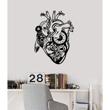 Wall Sticker Vinyl Decal Steampunk Mechanical Heart Motor Engine Unique Gift (ig2222)