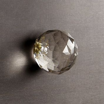 karat clear glass knob