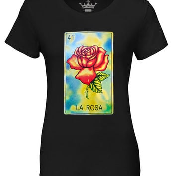 "Ladies ""La Rosa"" Crew Neck Tee"