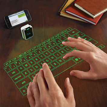 VK200 Virtual Laser Keyboard // Green // Micro-USB
