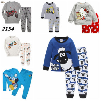 New Children Pajamas Set Kids Baby Girl Boys Cartoon Casual Pijamas Kids Spiderman BatMan Pyjamas Sleepwear Nightgown