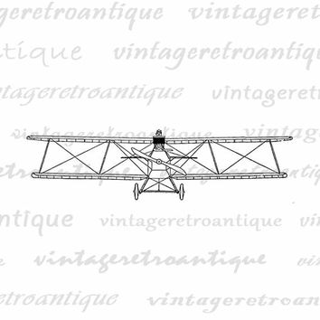 Antique Fighter Plane Printable Image Graphic Plane Clip Art Download Digital Vintage Clip Art Jpg Png Eps  HQ 300dpi No.1690